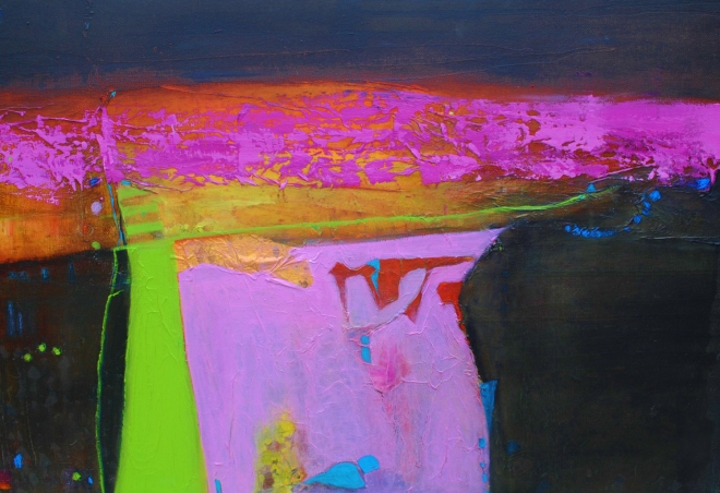 Pink Field With Green Path (Sold)